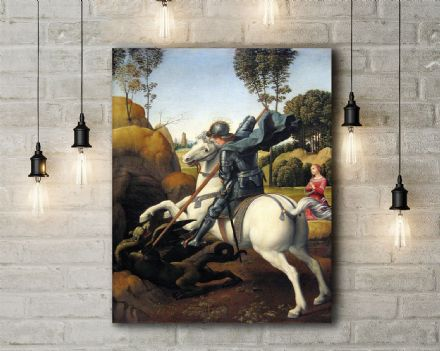 Raphael: St George and the Dragon. Fine Art Canvas.